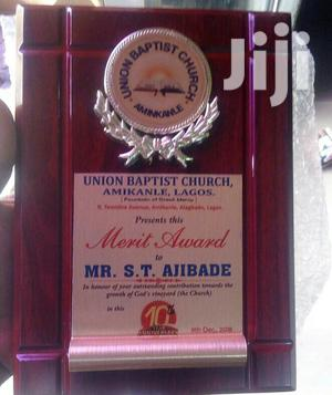Presentable Wooden Plaque Award With Printing   Arts & Crafts for sale in Abuja (FCT) State, Maitama