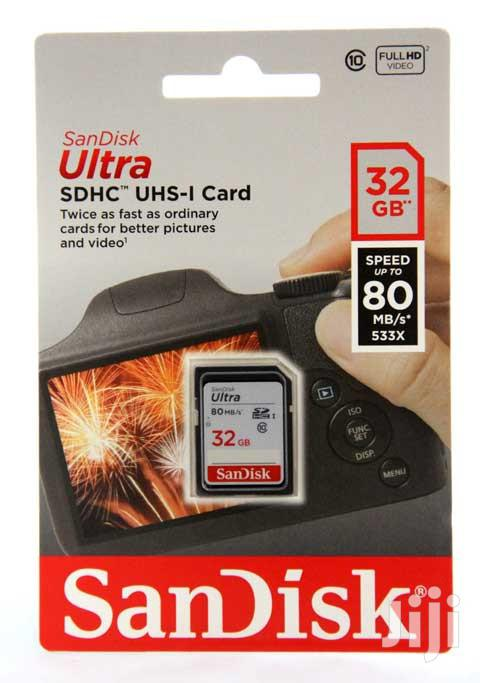 32GB 80mb/S Sandisk Ultra SD Memory Card Class 10 | Accessories & Supplies for Electronics for sale in Lagos Island (Eko), Lagos State, Nigeria