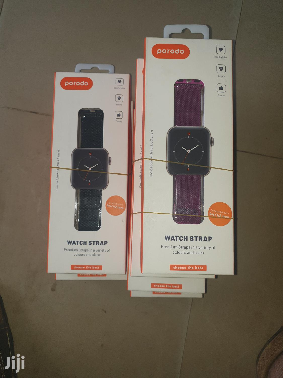 Apple Watch Strap For Series 3 42mm And Series 4 44mm   Smart Watches & Trackers for sale in Ikeja, Lagos State, Nigeria