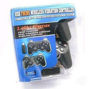 USB Twin Wireless Vibration Controller | Accessories & Supplies for Electronics for sale in Lagos State, Ikeja