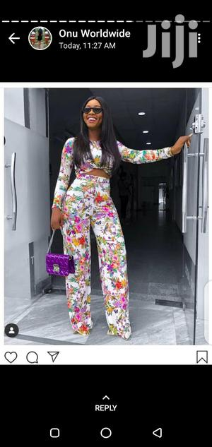 New Floral Parrazo Trouser and Crop Top | Clothing for sale in Lagos State, Ikeja