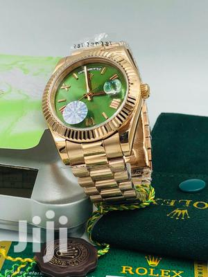 Rolex Oyster Perpetual Rose Gold Green Face Chain Watch | Watches for sale in Lagos State, Lagos Island (Eko)