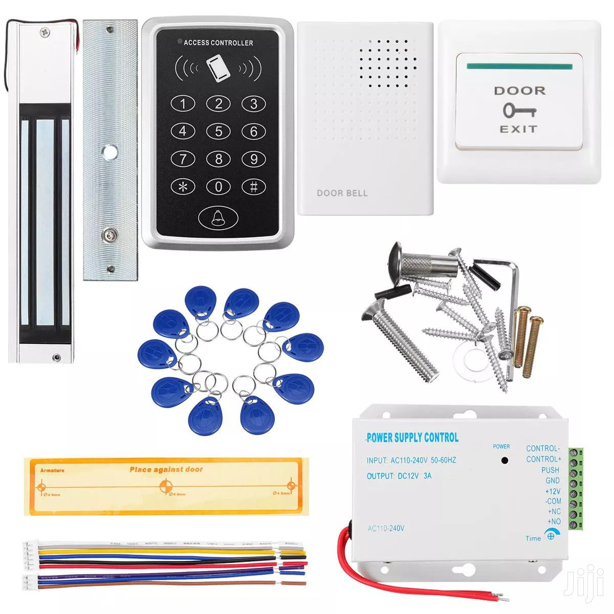 Door Access Control Keypard Magnetic Lock DC 12V Power Supply Kit