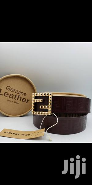 Fendi Brown Leather Belt for Men's   Clothing Accessories for sale in Lagos State, Lagos Island (Eko)