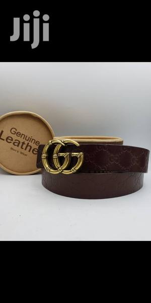 Gucci Brown Leather Belt for Men's | Clothing Accessories for sale in Lagos State, Lagos Island (Eko)