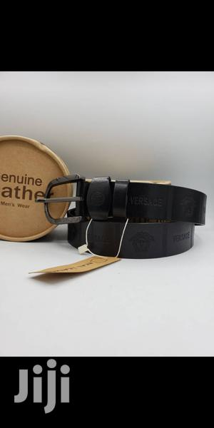 Versace Brown Leather Belt for Men's | Clothing Accessories for sale in Lagos State, Lagos Island (Eko)
