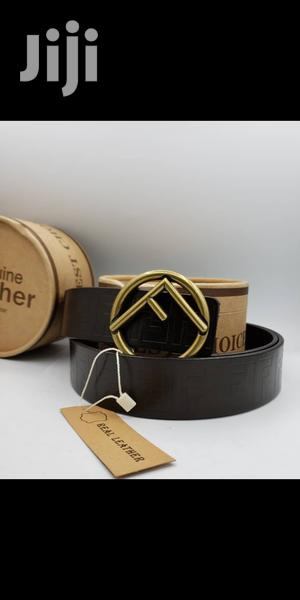 Fendi Brown Leather Belt for Men's | Clothing Accessories for sale in Lagos State, Lagos Island (Eko)