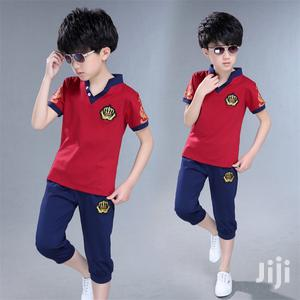 Boys Summer Vneck Tshirts With 3/4 Knicker | Children's Clothing for sale in Lagos State, Yaba