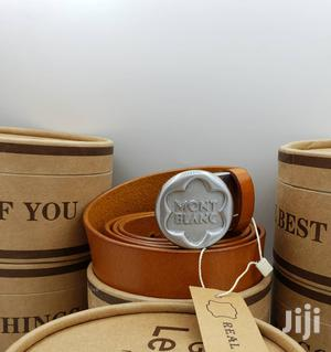 Montblanc Brown Leather Belt For Men's   Clothing Accessories for sale in Lagos State, Lagos Island (Eko)