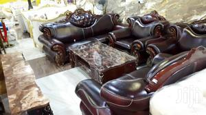 Seven Seaters Pure Italian Leather Chairs Brown | Furniture for sale in Lagos State, Lekki