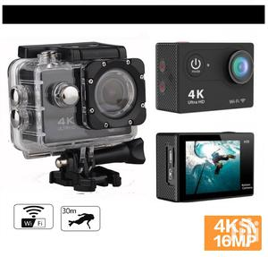 Action Camera 4K 16MP Wi-fi Ultra HD Waterproof Sport Camera | Photo & Video Cameras for sale in Lagos State, Ikeja