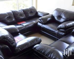 Pure Leather Sofa Settee, Available on Full Set of 7seven Seaters. | Furniture for sale in Lagos State, Ojo