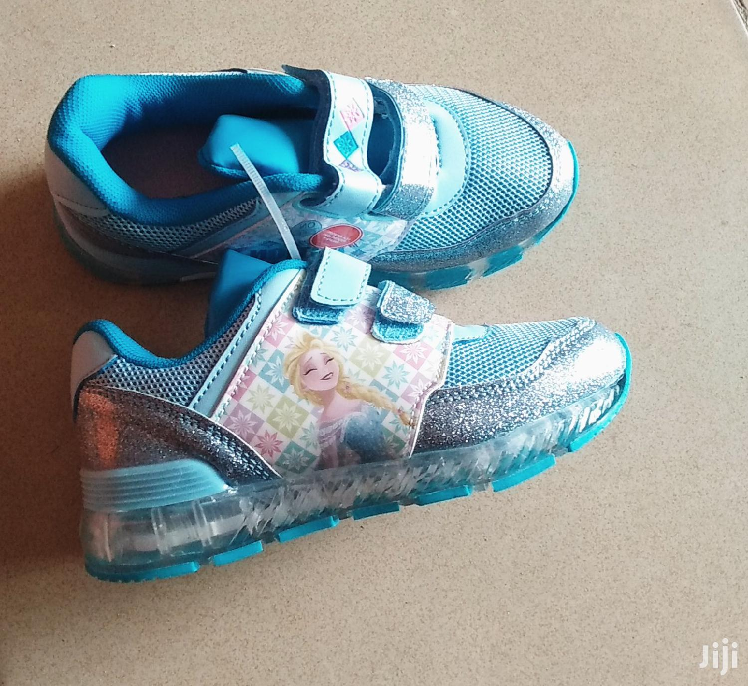 Blue Frozen Canvas Sneakers for Girls