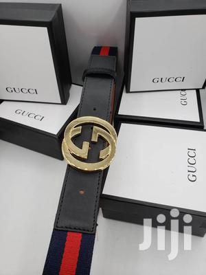 Gucci Brown Leather Belt for Men's   Clothing Accessories for sale in Lagos State, Lagos Island (Eko)