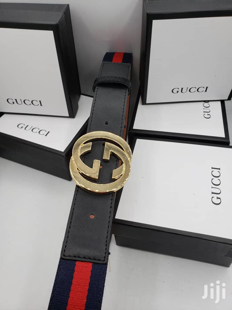 Gucci Brown Leather Belt for Men's