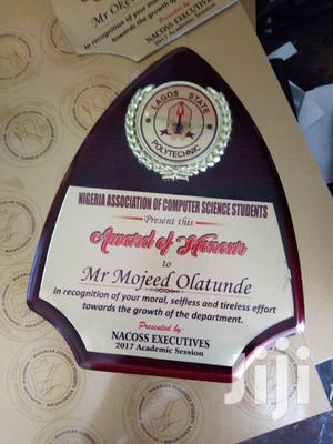 Award Plaque   Arts & Crafts for sale in Lagos State, Ikorodu