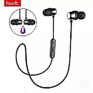 Havit L39 Necklace Bluetooth Stereo Earphones - Black | Headphones for sale in Lagos State, Ikeja
