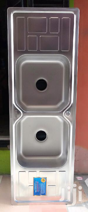 Double Bowl With Double Tray Stainless Steel Sink | Kitchen & Dining for sale in Lagos State, Orile