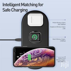Baseus 3 In 1 Wireless Charger For iPhone Fast Wireless Charging Pad   Accessories for Mobile Phones & Tablets for sale in Lagos State, Ikeja