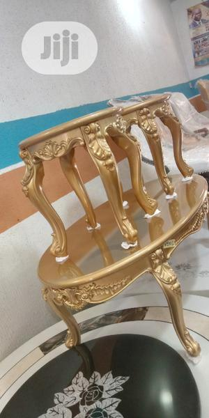 Imported Golden Center Table With Side Stools   Furniture for sale in Lagos State, Ajah