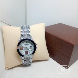 Rolex Oyster Perpetual Iced 0ut Watch - Silver | Watches for sale in Lagos State, Ojodu