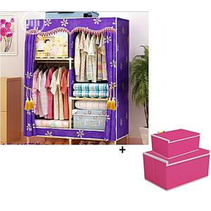 Two Column Wooden Wadrobe Plus Two Storage Boxes | Home Accessories for sale in Lagos State, Oshodi