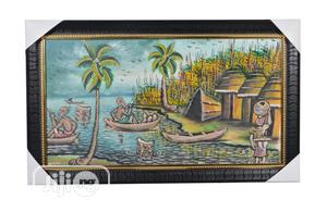 Handmade Painting Of An African Village Scene - (26 X 14) | Arts & Crafts for sale in Lagos State, Ojodu