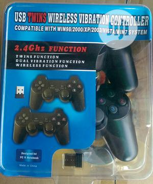 Double Wireless Controller Game Pad | Accessories & Supplies for Electronics for sale in Lagos State, Ikeja