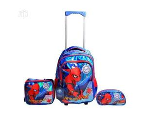 Spiderman 3 In 1 Trolley Backpack School Bag- Big-- Blue And Red   Babies & Kids Accessories for sale in Lagos State