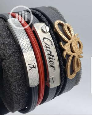 Men's Cartier, LV And Gucci Leather Bracelets | Jewelry for sale in Lagos State, Lagos Island (Eko)