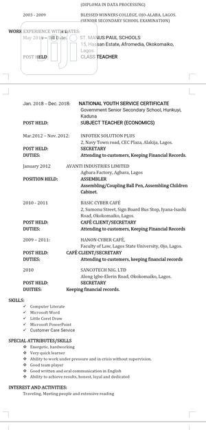 Childcare Babysitting CV   Childcare & Babysitting CVs for sale in Abuja (FCT) State, Bwari