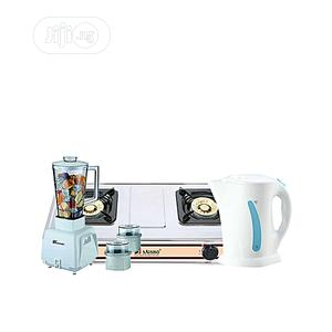 Electric Jug + Double Burner Gas Stove + 3-In-1 Blender   Kitchen Appliances for sale in Lagos State, Surulere