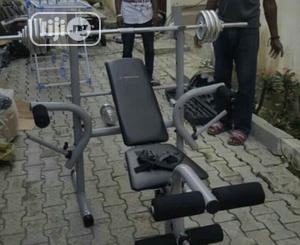 Weight Lifting Bench And 50kg Weight   Sports Equipment for sale in Abuja (FCT) State, Central Business District