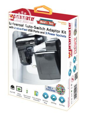 Promate Universal Auto Switch Adapter Kit With 2 Ultra Fast Usb Port | Computer Accessories  for sale in Abuja (FCT) State, Wuse 2