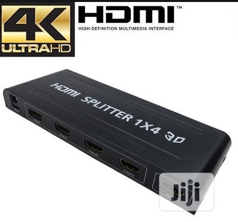 4 Way HDMI Splitter Amplifier - 1 In 4 Out 3D 1080p 4K Ultra HD