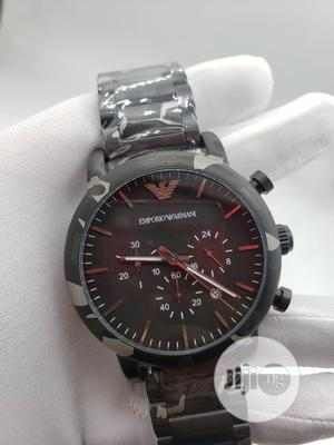 Emproio Armani Chronograph Army Camo Color Chain Watch   Watches for sale in Lagos State, Lagos Island (Eko)