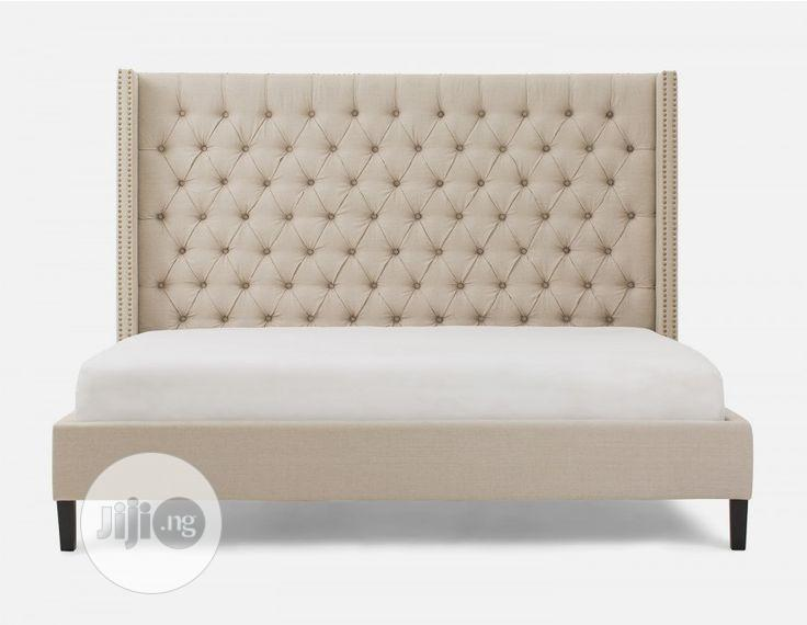 Upholstery Sofa's Leather Bed Frame 6 X 7 With 2 Bedside Drawer