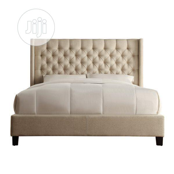Upholstery Sofa's Leather Bed Frame 6 X 7 With 2 Bedside Drawer | Furniture for sale in Ikoyi, Lagos State, Nigeria