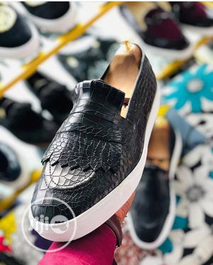 Casual Skin Leather Loafers With White Sport Sole | Shoes for sale in Lagos State, Amuwo-Odofin