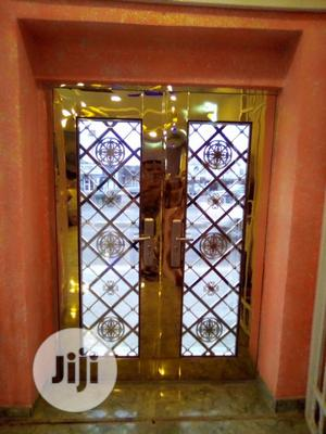 Gold Gold Glass Door. | Doors for sale in Lagos State, Orile