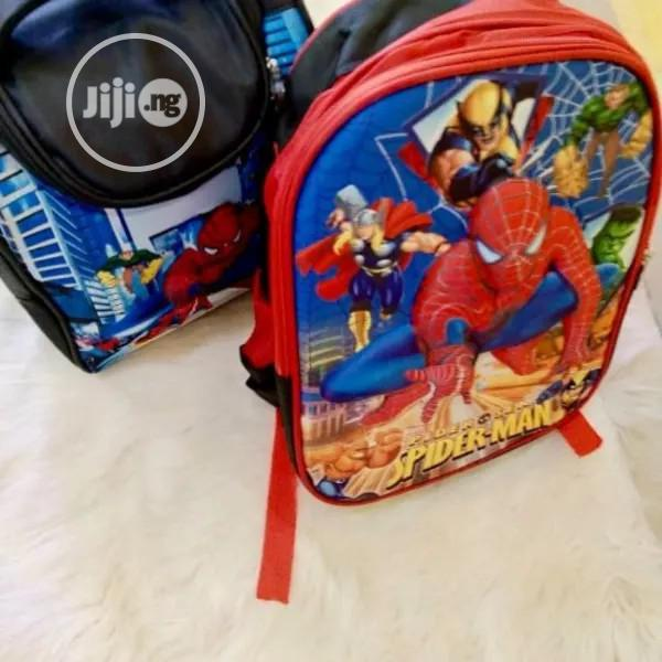 Spiderman School Bag And Lunch Bag