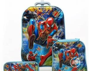 """3 In 1 Kids Spider Man Trolley School Bags - 18"""" 