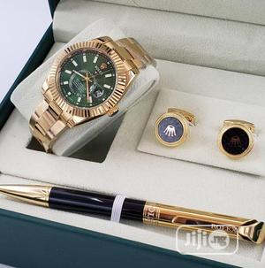 Rolex (SKY DWELLER) Watch and Rose Gold Pen/Cufflinks   Watches for sale in Lagos State, Lagos Island (Eko)