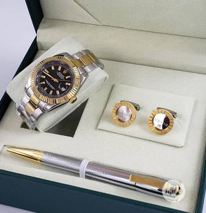 Rolex Oyster Perpetual Gold/Silver Chain Watch and Pen/Cufflinks   Watches for sale in Lagos State, Lagos Island (Eko)