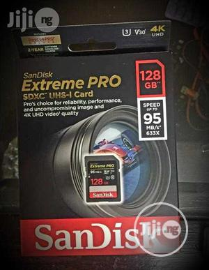 Sandisk Extreme Pro 128GB Memory Card. 4k UHD   Accessories & Supplies for Electronics for sale in Lagos State, Ojo