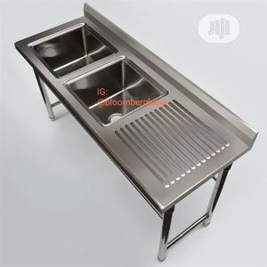 Industrial Kitchen Sink With Work Space | Restaurant & Catering Equipment for sale in Lagos State, Ojo