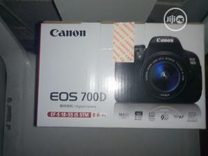 Canon EOS 700D. With 18-55mm Lens | Photo & Video Cameras for sale in Lagos State, Ojo