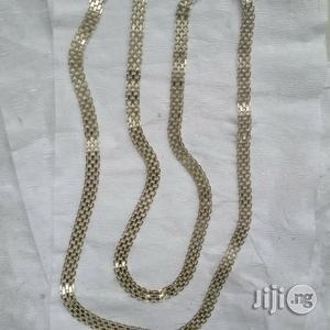 Original ITALY 925 Pure Silver Necklace Carpet Design | Jewelry for sale in Lagos State, Amuwo-Odofin