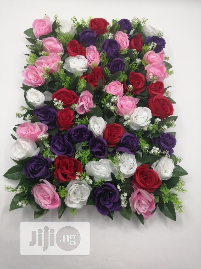 Purple Interior Rose Flower Frame