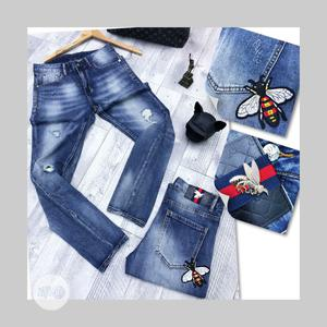Gucci, Balenciaga and Versace Rugged Jeans High Quality Designers | Clothing for sale in Lagos State, Lagos Island (Eko)